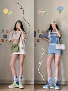 简约酷女孩夏季清爽穿搭✨一起get大长腿~