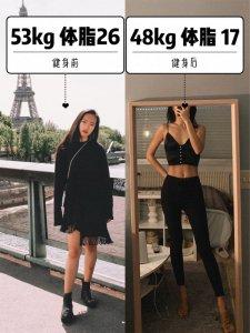 168/48kg 体脂26到17 一周运动饮食计划✅
