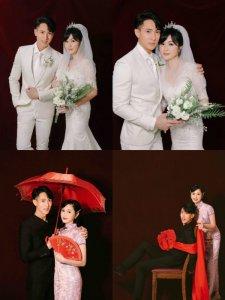吴尊婚纱照✨不是综艺这回终于是两个人的了