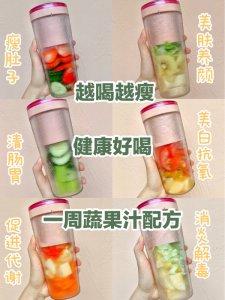 越喝越瘦!自制美容养颜蔬果汁!健康好喝!