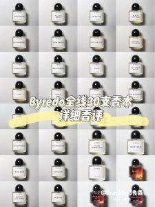 Byredo拜里朵 全线30支香水香评(一)