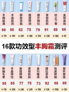 16款功效型丰胸霜测评|胸部护理胸下垂缩胸