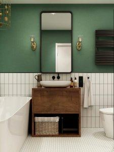 用好这抹复古绿拥有法国电影里的浴室