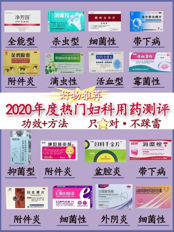 2021年度妇科用药大测评,你在榜吗?