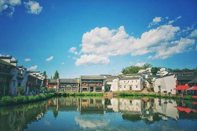 兰溪市。 雄奇的诸葛八卦村。