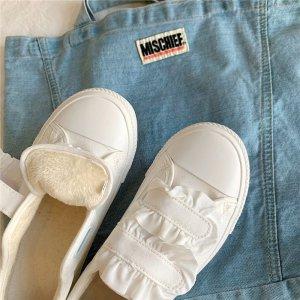 一双高颜值奶里奶气加绒鞋子 实名心动