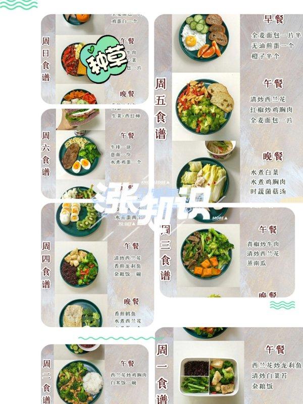 一周减脂餐食谱 自律饮食,已瘦38斤