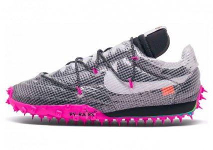 OW与Nike联名跑鞋再出黑粉配色 鞋底大片粉红亮瞎眼