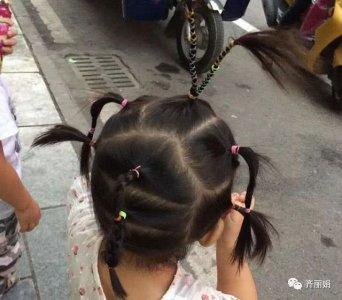 手残党爸爸给女儿扎头发 分分钟折腾出新花样 网友:没眼看