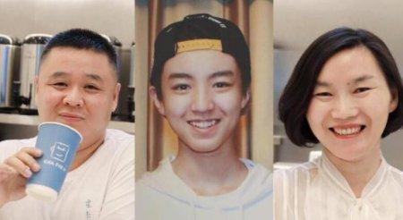王俊凯爸妈开奶茶店 墙上挂满了王俊凯的照片