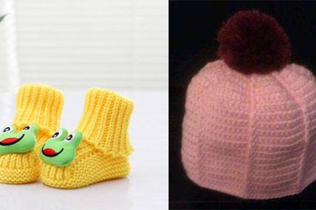 初生宝宝鞋帽编织法 简单几步给孩子温暖的爱