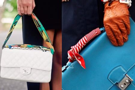 潮人教大家丝巾缠包 三种方法打造全新设计感