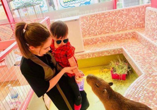 周杰伦一家游日本 小周周带着墨镜酷劲不输给爸爸