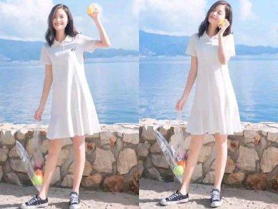 平底鞋搭配什么衣服好看 简单的T恤裙是你好的选择