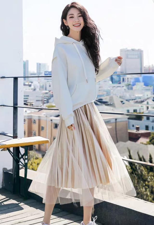 卫衣 半身长裙