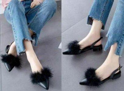 随着春天的到来 今年流行的毛毛鞋图片大全