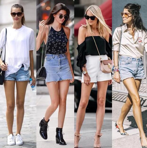 说到牛仔短裤牛仔短裤什么颜色好看搭配什么最合适