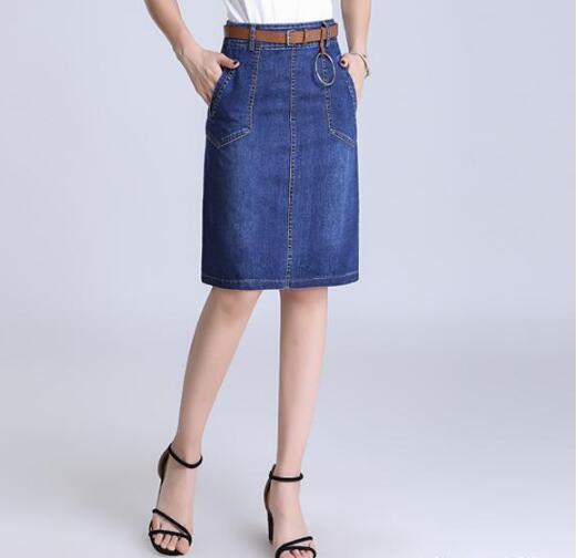 高腰A字短裙