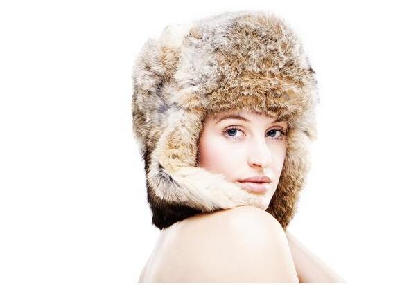 毛茸茸帽子