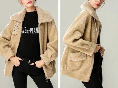 今年冬天特别流行羊羔毛外套 羊羔毛外套穿搭图片