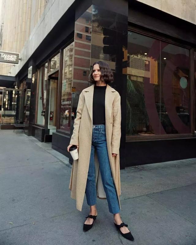 冬天就是女生们穿大衣的季节冬季长款大衣搭配图片