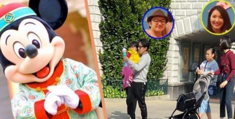 王祖蓝携妻女现身游乐场