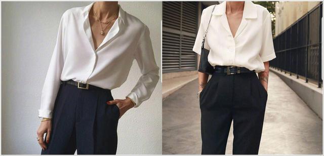 白衬衫 西装裤