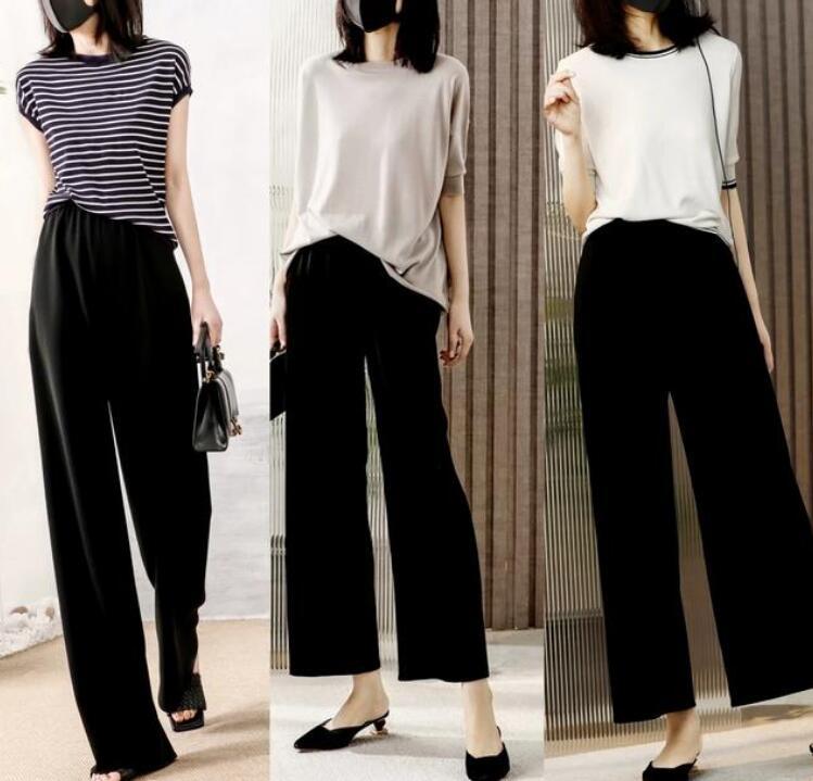 这几年来阔腿裤绝对称的上是时尚界的一匹黑马黑色阔腿长裤怎么搭配?