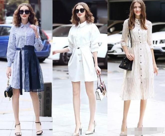 像衬衫裙这类单品虽说比较偏向于气质型衬衫连衣裙怎么搭配图片