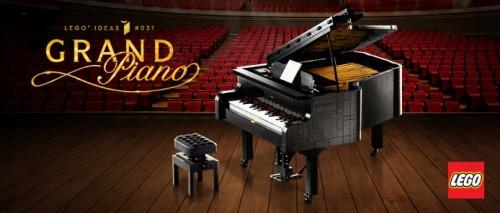 拼搭全新乐高®IDEAS钢琴肆享音乐律动