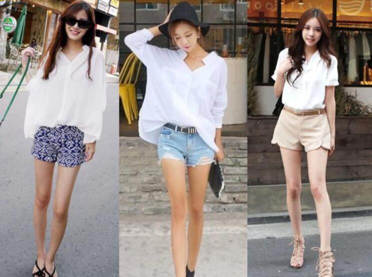 白衬衣 热裤