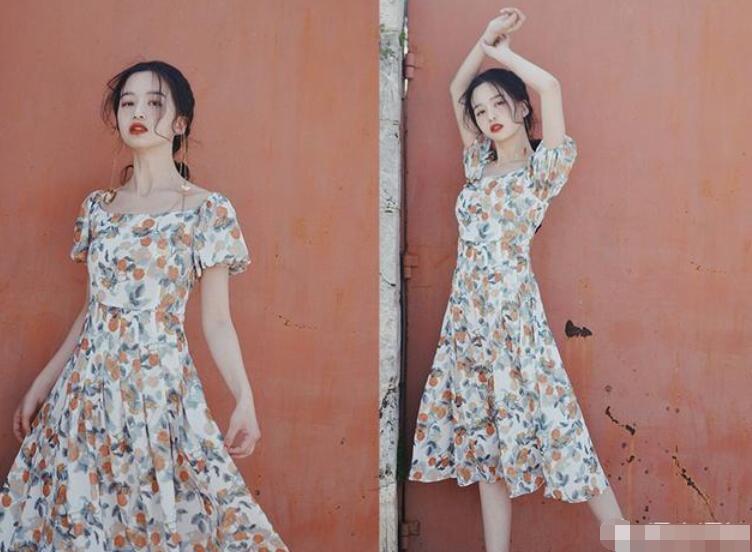 喜欢穿裙子的姑娘2020复古连衣长裙款式图片