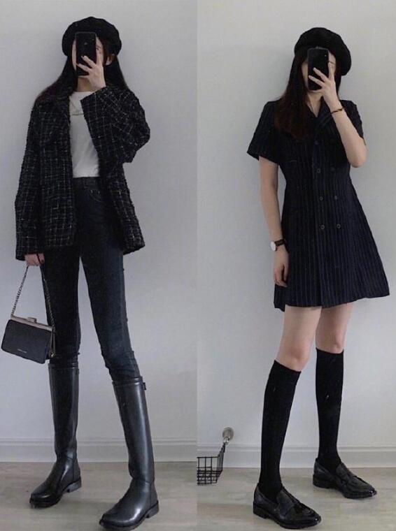 冬装穿搭 女孩冬装衣服搭配图片