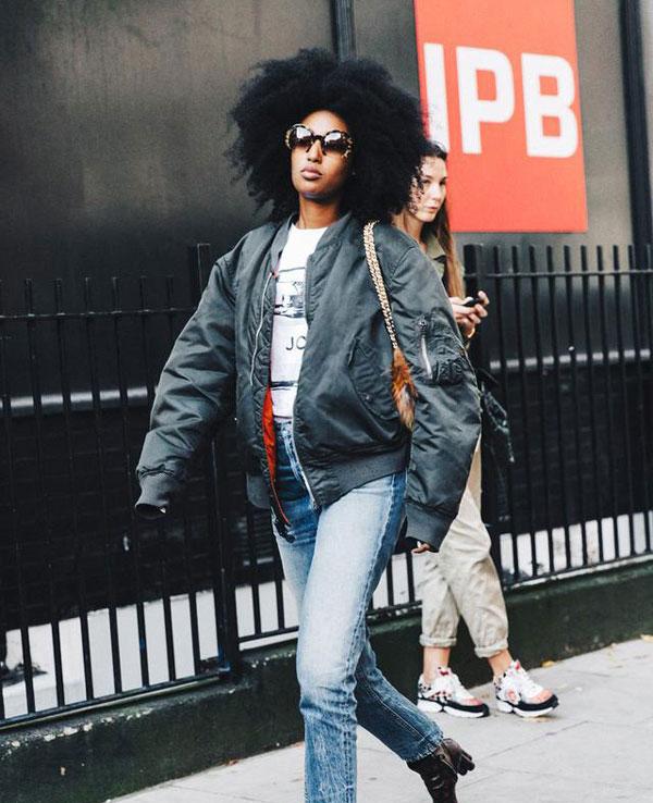 当今最时尚的夹克模特