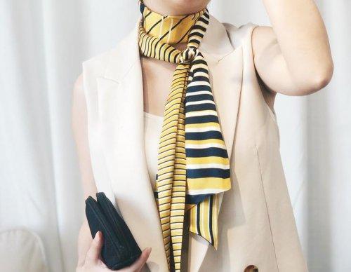 丝巾怎样变成防晒衣