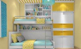 温馨儿童房双层床装修效果图