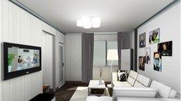 2021年90后现代简约风格客厅装修效果图