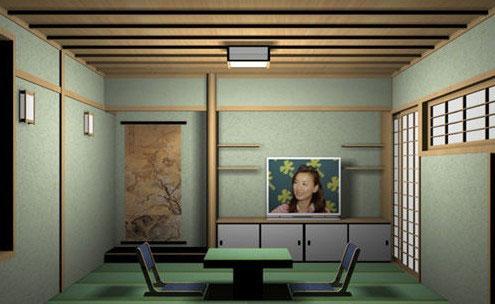 日式清新榻榻米客厅装修效果图