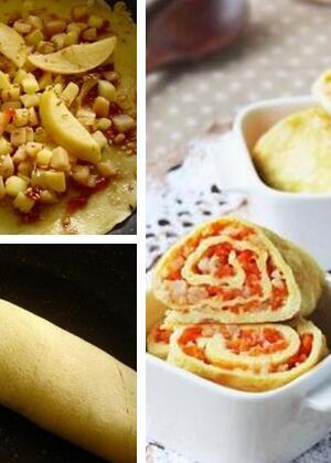 【周六食谱】家常苹果蛋卷的做法步骤