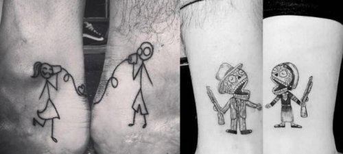 要秀就秀情侣纹身