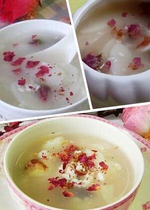 玫瑰花能喝甜酒一起煮吗 玫瑰酒酿年糕既御寒又美容