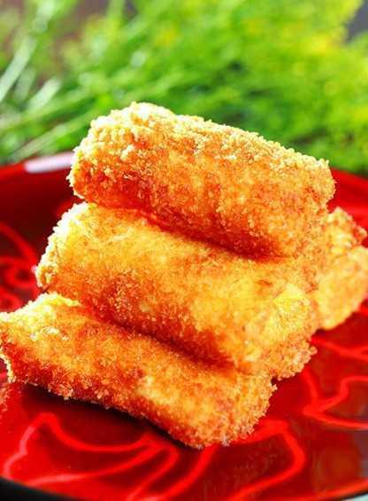 香芒沙律鲜虾卷外酥内滑的做法