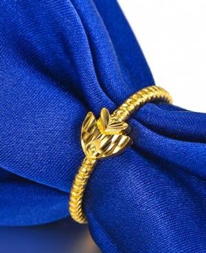 韩版女款简约黄金戒指显高贵不止一点