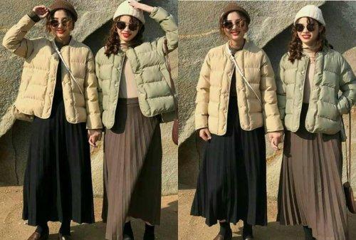 冬天适合和闺蜜一起穿的面包服