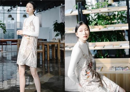 2021新款高腰吊带连衣裙特迷人
