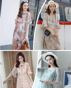 韩版孕妇装宽松裙子 时尚款显十足孕味