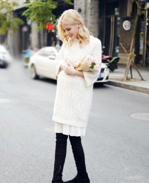时尚孕妇装连衣裙温暖过冬做美丽准妈妈!
