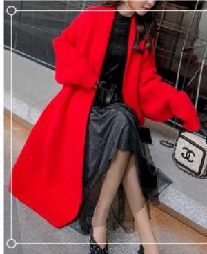 红色长款外套怎么搭配?第二款穿搭高级又有范儿