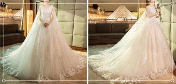 适合胖人穿的婚纱款式