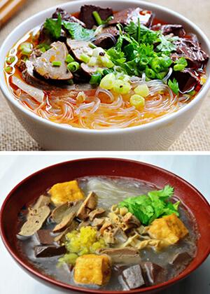 南京风味小吃鸭血粉丝汤 南京老鸭粉丝汤哪家最正宗